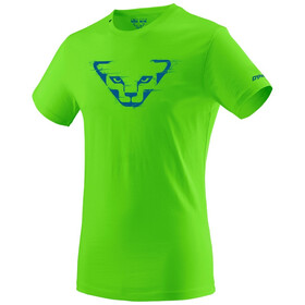 Dynafit Graphic Camiseta Algodón Manga Corta Hombre, lambo green/grunge